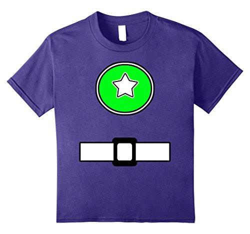 Purple Power Ranger Halloween Costume (Kids Fun Super Generic Hero Costume Shirt Green Emblem Belt Look 12 Purple)