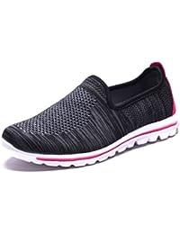 Womens Sneakers Slip-on Walking Memory Foam Shoes