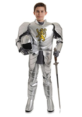Underwraps Big Boy's Boy's Shining Knight Costume, Large Childrens Costume, Silver, Large