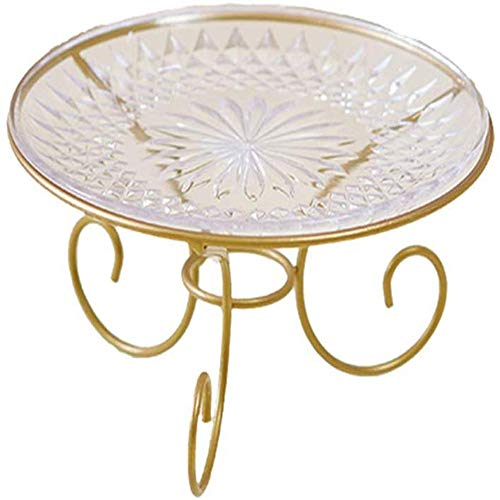 JTKDL Fruit Basket Bowl Stand Serving Tray Rustic Metal Stand Dessert Cupcake Fruit Party Country Farmhouse Vintage Decor for the Kitchen Home Farm Outdoor (Color : Gold) (0.5 Kg Pineapple Cake)