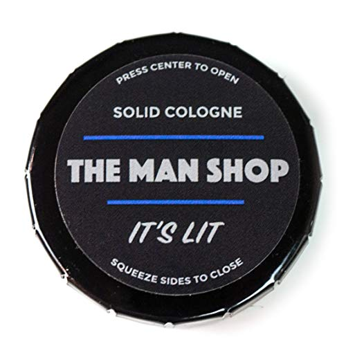 It's Lit Men's Solid Cologne (0.4 oz) The Man Shop Dry Cologne for the Gym and Travel