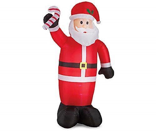 Feet tall winter wonder lane inflatable lighted santa