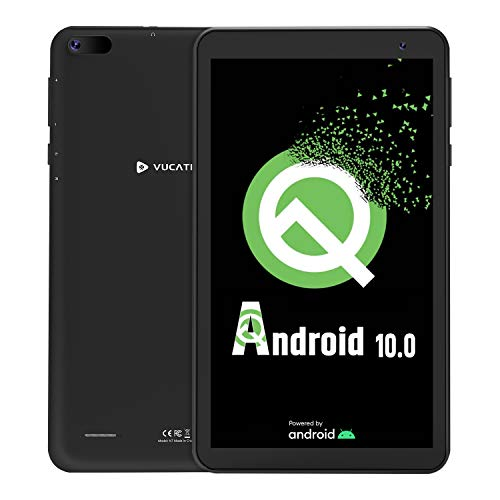 Tablet 7-Inch Android 10.0 Go - VUCATIMES 16GB ROM IPS HD Display Quad-Core Processor WiFi Bluetooth 4.2 Google Certified, Play Store Pre Installed, N7(Black)