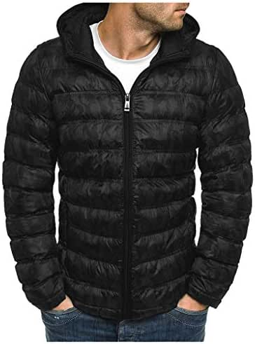 3XL Winter Men Down Jackets Zipper 2019 Hoodies Fashion Warm Tops Big and Tall Comfor Casual Long Sleeve Coat Outwear