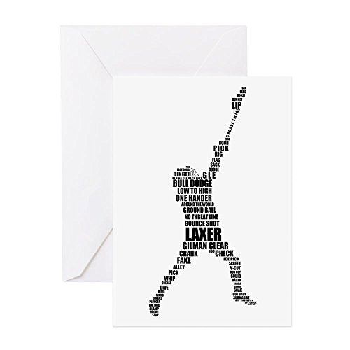 Lingo - Greeting Card, Note Card, Birthday Card, Blank Inside Glossy (Lacrosse Note Card)
