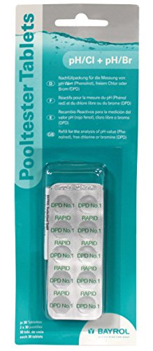 Bayrol 287125 Tabletten Nachfüllpackung pH/Chlor für Pooltester