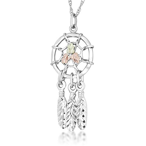 Dream Catcher Nature Jewelry - Black Hills Silver Dreamcatcher Pendant Necklace