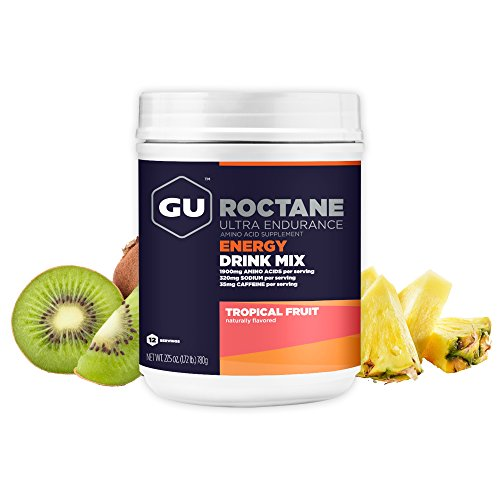 GU Energy Roctane Ultra Endurance Energy Drink Mix, Tropical Fruit, 1.72-Pound - Endurance Drink Formula