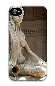 iPhone 4 4S Case Beautiful Sitting Girl Statue 3D Custom iPhone 4 4S Case Cover