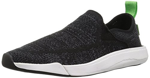 Sanuk Unisex Chiba Quest Knit Sneaker, Black, 5 US Men / 6 U