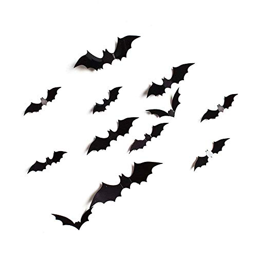 Halloween Decor Bats Stickers Spooky Birds and Sheet of Decals Adhesive PVC Sticker ShinMe Halloween Eva Party 3D Wall Sticker for Home Party Christmas Mural Kids 36 -