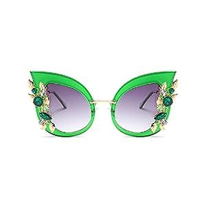 YABINA Luxury Sunglasses Women Inlaid Rhinestone Retro Sun glasses (05)