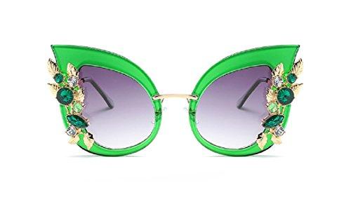YABINA Luxury Sunglasses Women Inlaid Rhinestone Retro Sun glasses - Inexpensive Eyewear