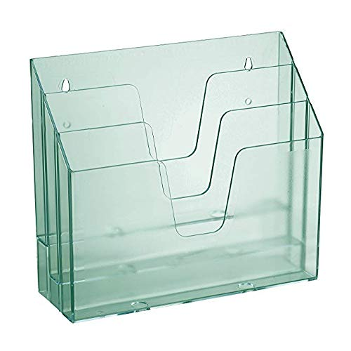 Acrimet Horizontal Triple File Folder Organizer (Clear Green Color) ()