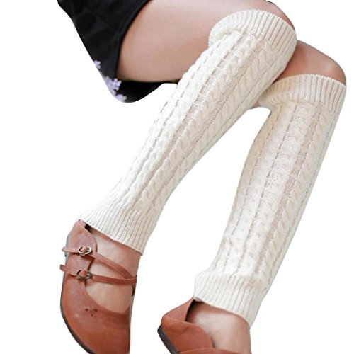 Invisible Man Costume 2016 (RIUDA Women Socks, 2016 Knitted Hollow Out Twill Leg Warmers Socks (White))