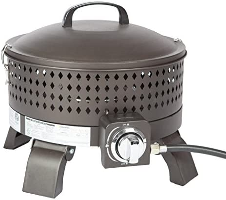 Fire Sense Sporty Campfire Portable 15 Inch Gas Steel Fire Pit