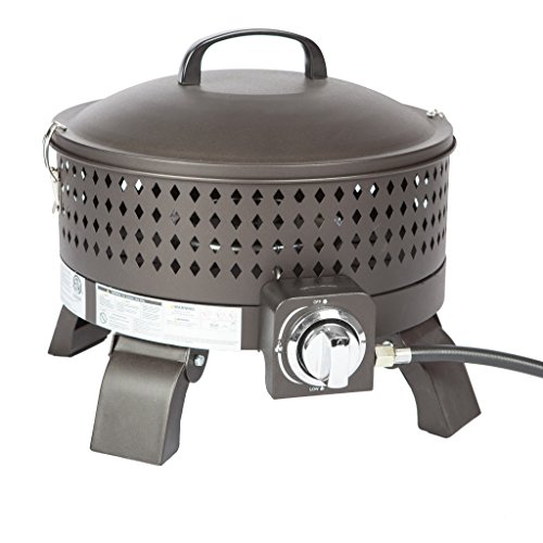 Fire Sense 62133 Sporty Campfire Portable Gas Fire Pit, Mocha