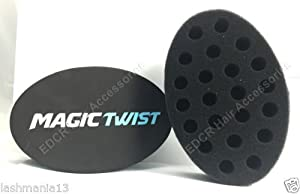 BLACK ICE PROFESSIONAL MAGIC TWIST HAIR BRUSH SPONGE FOR DREADS & AFRO #MTW003 by Magic Twist