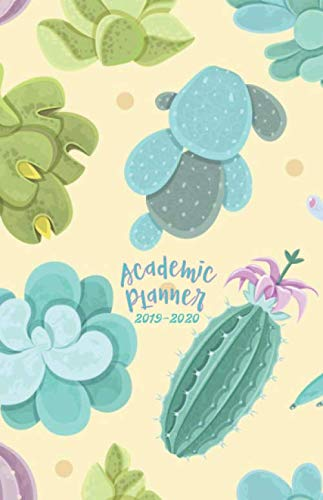 Academic Planner 2019 - 2020: 18 Month Agenda /  Student Diary from JULY 2019 through DECEMBER 2020 with yearly overviews, monthly & weekly layouts, ... & Watercolor Succulents (Monday start week)