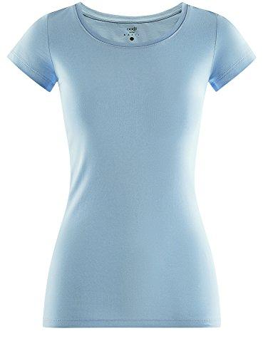oodji Ultra Basic T Shirt 7000n Aderente Blu Donna rrqSw4xp