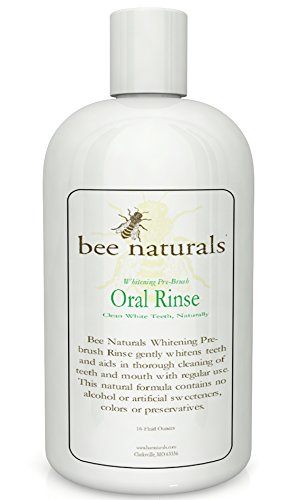 Best Whitening Pre-brush Oral Rinse - Clean White Teeth Naturally - Includes Xylitol - Beautiful Smile & Fresh Breath - Neutralizes Odor & Germs - No Harmful Chemicals, Alcohol, Artificial (Whitening Rinse)