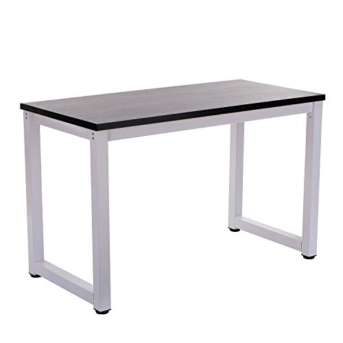 Decho 47 Modern Simple Style Computer Desk PC Laptop Study Table Workstation for Home Office, Black