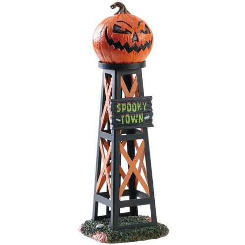 (Lemax Spooky Town Evil Pumpkin Water Tower #83341)