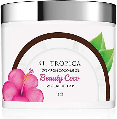 ST. TROPICA Beauty Coco - 100% Virgin Coconut Oil for Skin & Hair - Beauty Coconut Oil