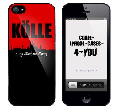 Iphone 5 Schutzhülle mit Kölle ming Stadt am Rhing Aufdruck mit schwarzem Rahmen