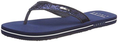 Femme Glitter Esprit Mules Thongs Bleu Navy Pq0wxat6g