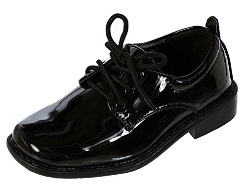 DressForLess Boys Dress Shoes, Black, 10