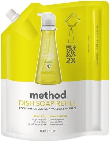 Método Recambio Jabón, limón y menta 36 oz (1 L): Amazon.es: Hogar