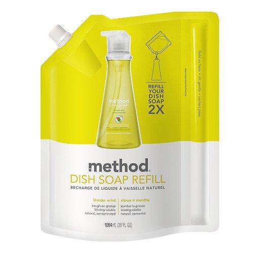 method Natural Lemon Mint Dish Soap Refill 36 Oz - Pack of 3