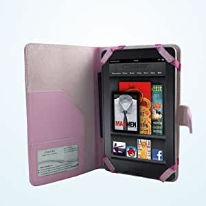 "Ematic Genesis (EGL26BL) 7"" Tablet Case / Cover - PINK SRX Executive by Cush Cases"