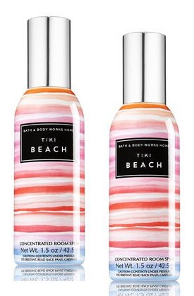 Bath and Body Works 2 Pack Tiki Beach Concentrated Room Spray. 1.5 (Beach Tiki Bath)