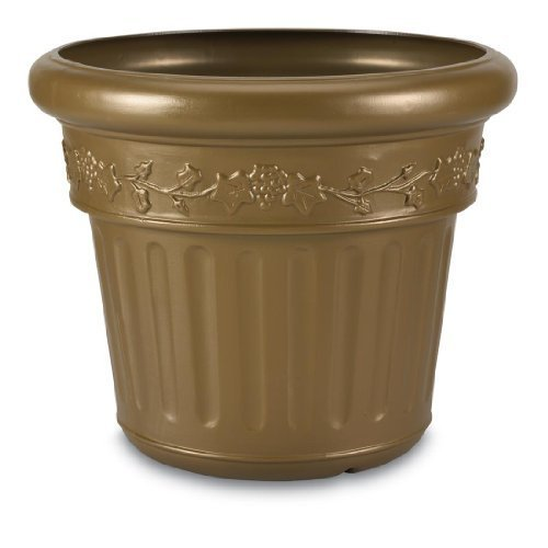 Bronze Finish High Density Resin Planter by Patio Living Concepts (Planter Patio Concepts Living Bronze)
