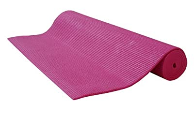 "Kid��s Sticky Yoga Mat 3/16""x60"" Thick 8 Colors SGS Approved Non-Toxic PER No Phthalates or Latex by Bean Products TM, Hot Pink"
