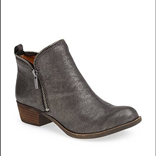 Lucky Brand 'Bartalino' Women's Stud Embrossed Leather Bootie, Pewter Size 6 M US