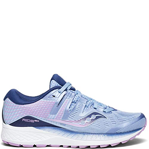 Saucony Shoes Women - Saucony Women's Ride ISO Shoes, Blue/Navy/Purple, 8