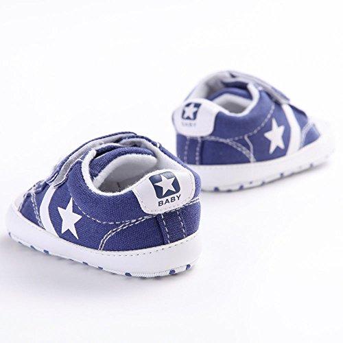 WAYLONGPLUS Zapatos para bebé antideslizantes y suaves blanco blanco Talla:12 (6-12 Months) Bule