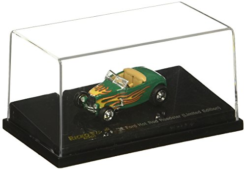 Ricko 38597 Ford Hot Rod Roadster with flamepatterned 1932 Model Car 1:87 Hobby Train Vehicles, Green ()