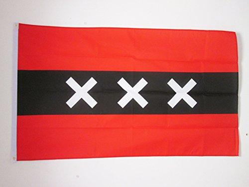 AMSTERDAM FLAG 3' x 5' - NETHERLAND FLAGS 90 x 150 cm - BANN