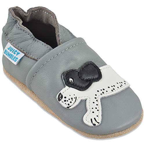 Baby Shoes Soft Sole Leather - Baby Boy Shoes - Baby Girl Shoes - Dog 6-12 Months