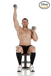 Calf Compression Sleeve - Leg Compression Socks for Shin Splint, & Calf Pain Relief - Men, Women, and Runners - Calf Guard for Running, Cycling, Maternity, Travel, Nurses (Medium)
