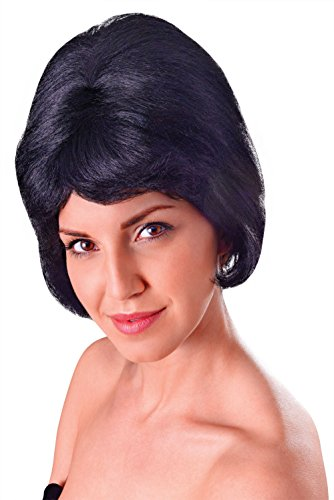 Bristol Novelty BW121 High Beehive Wig, Black, One Size -