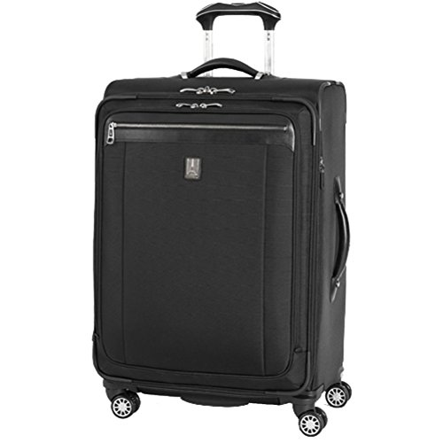 agna 2 25'' Expandable Spinner Suiter (Black,25-inch) (25' Expandable Spinner Luggage)