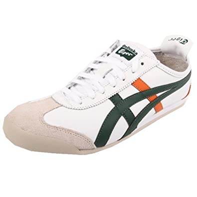 cf5b583a7572d Amazon.com: Onitsuka Tiger Mexico 66 White Green Orange Leather New ...