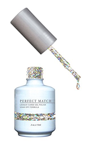 LECHAT Perfect Match Nail Polish, Hologram Diamond, 0.500 Ounce (Polish Glitter Gel)