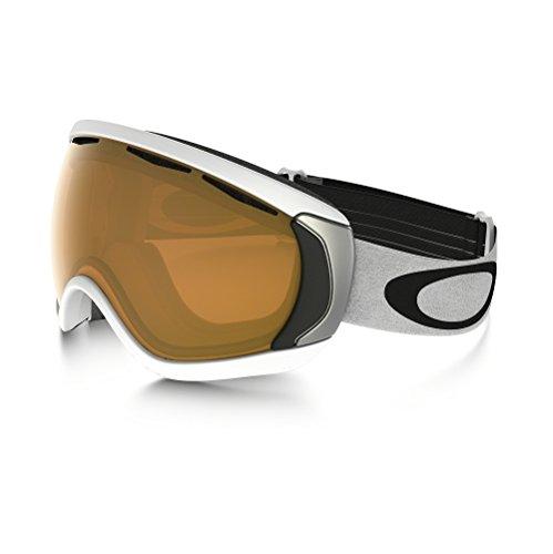 Oakley Canopy Snow Goggle, Matte White with Black Iridium - Black And Oakleys White