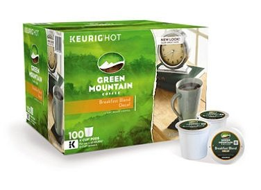 Green Mountain Decaffeinated Coffee, Breakfast Blend (100 K-Cups) by Green Mountain Coffee
